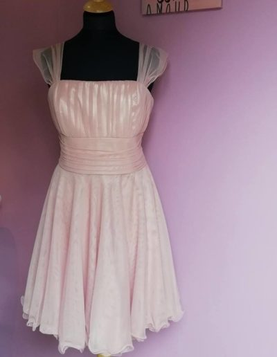 Tulle plume vieux rose