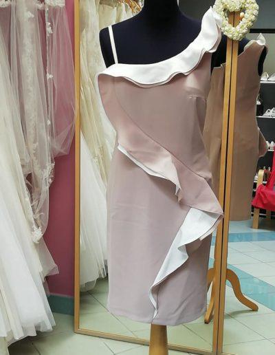 Robe rose poudré/voire